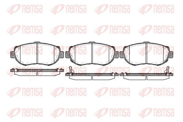 REMSA  0456.02 Bremsbelagsatz, Scheibenbremse Höhe: 63,8mm, Dicke/Stärke: 17mm