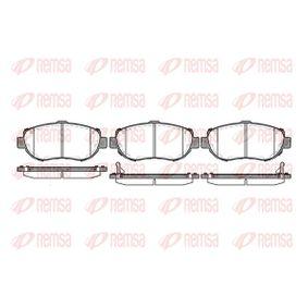 Bremsbelagsatz, Scheibenbremse Höhe: 63,8mm, Dicke/Stärke: 17mm mit OEM-Nummer 04465-22312