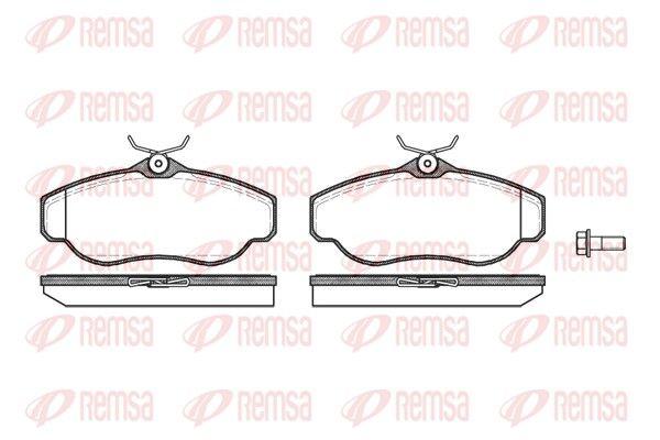 REMSA  0576.00 Bremsbelagsatz, Scheibenbremse Höhe: 66,4mm, Dicke/Stärke: 19mm