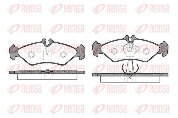 REMSA  0579.00 Bremsbelagsatz, Scheibenbremse Höhe: 50,2mm, Dicke/Stärke: 17mm
