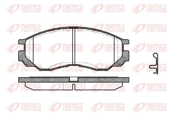 REMSA  0583.00 Bremsbelagsatz, Scheibenbremse Höhe: 55mm, Dicke/Stärke: 16,5mm