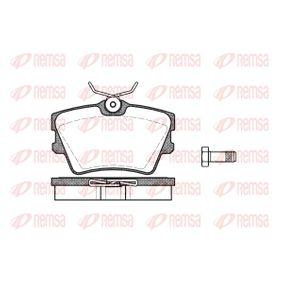 Bremsbelagsatz, Scheibenbremse Höhe: 57,4mm, Dicke/Stärke: 17mm mit OEM-Nummer 7D0.698.451
