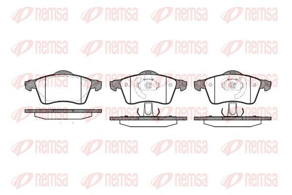 REMSA  0618.00 Bremsbelagsatz, Scheibenbremse Höhe: 68,5mm, Dicke/Stärke 1: 20,3mm, Dicke/Stärke 2: 19,5mm
