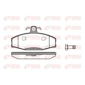 Brake Pad Set, disc brake Height: 61mm, Thickness: 17,5mm with OEM Number 8U0698151F