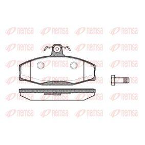 Kit de plaquettes de frein, frein à disque Hauteur: 61mm, Épaisseur: 17,5mm avec OEM numéro 8U0698151F