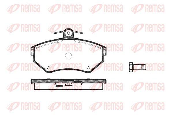 REMSA  0631.00 Bremsbelagsatz, Scheibenbremse Höhe: 69,5mm, Dicke/Stärke: 16mm