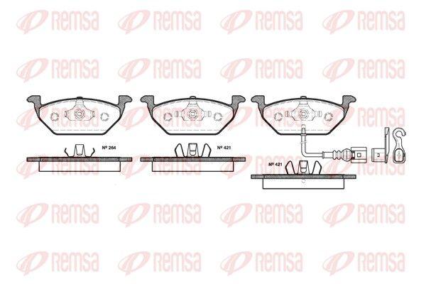 REMSA  0633.21 Bremsbelagsatz, Scheibenbremse Höhe: 54,7mm, Dicke/Stärke: 19,8mm