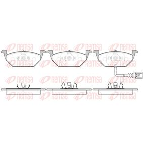 REMSA  0633.41 Bremsbelagsatz, Scheibenbremse Höhe: 54,7mm, Dicke/Stärke: 19,3mm