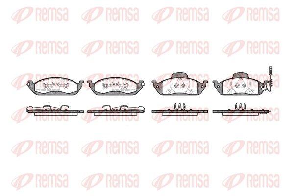 REMSA  0697.01 Bremsbelagsatz, Scheibenbremse Höhe 1: 77mm, Höhe 2: 58,8mm, Dicke/Stärke 1: 16mm, Dicke/Stärke 2: 17mm