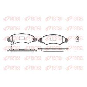 Bremsbelagsatz, Scheibenbremse Höhe: 44,5mm, Dicke/Stärke: 15,7mm mit OEM-Nummer 55810 84E01 000