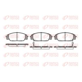 Brake Pad Set, disc brake Height: 52,5mm, Thickness 1: 16,6mm, Thickness 2: 17mm with OEM Number 45022-S2A-E50