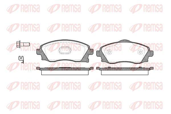 REMSA  0774.02 Bremsbelagsatz, Scheibenbremse Höhe: 55,5mm, Dicke/Stärke: 16,8mm