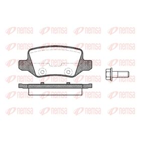 Brake Pad Set, disc brake Height: 41,5mm, Thickness: 14,3mm with OEM Number A168 420 0420