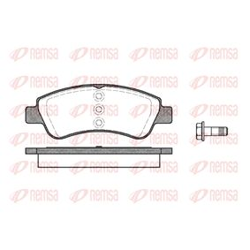 Brake Pad Set, disc brake Height: 51,4mm, Thickness: 18,8mm with OEM Number 1610489680