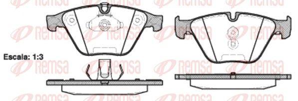 REMSA  0857.20 Bremsbelagsatz, Scheibenbremse Höhe: 68,5mm, Dicke/Stärke 1: 19mm, Dicke/Stärke: 19,8mm