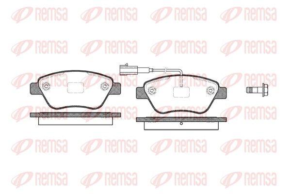 REMSA  0858.11 Bremsbelagsatz, Scheibenbremse Höhe: 53,3mm, Dicke/Stärke: 17mm