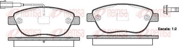 REMSA  0859.11 Bremsbelagsatz, Scheibenbremse Höhe: 57,5mm, Dicke/Stärke: 19mm