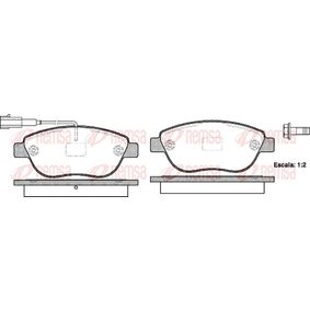 Bremsbelagsatz, Scheibenbremse Höhe: 57,5mm, Dicke/Stärke: 19mm mit OEM-Nummer 77365468