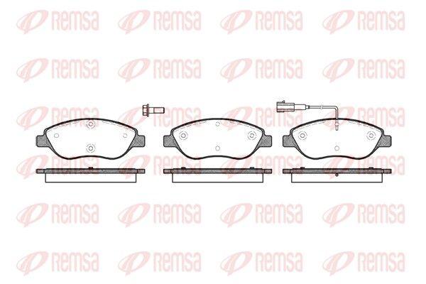 REMSA  0860.01 Bremsbelagsatz, Scheibenbremse Höhe: 57,5mm, Dicke/Stärke: 19mm