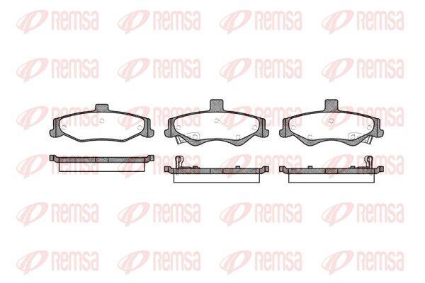 REMSA  0865.02 Bremsbelagsatz, Scheibenbremse Höhe: 54mm, Dicke/Stärke: 16,6mm