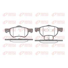 Bremsbelagsatz, Scheibenbremse Höhe 1: 69,3mm, Höhe 2: 72,5mm, Dicke/Stärke: 18,6mm mit OEM-Nummer 5015365AA