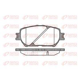 Bremsbelagsatz, Scheibenbremse Höhe: 58,5mm, Dicke/Stärke: 17,5mm mit OEM-Nummer 04465-33250