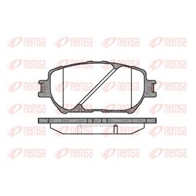 Bremsbelagsatz, Scheibenbremse Höhe: 58,5mm, Dicke/Stärke: 17,5mm mit OEM-Nummer 0446533250