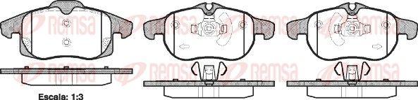 REMSA  0888.40 Bremsbelagsatz, Scheibenbremse Höhe 1: 70,7mm, Höhe 2: 69,6mm, Dicke/Stärke: 20,3mm