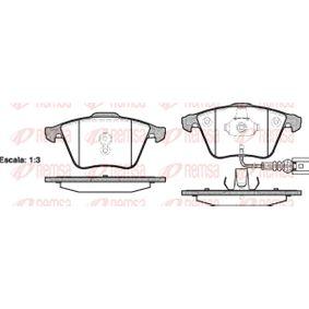 Bremsbelagsatz, Scheibenbremse Höhe: 72,9mm, Dicke/Stärke: 20mm mit OEM-Nummer 8J0 698 151 A