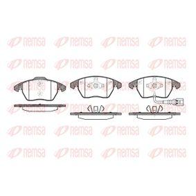 Bremsbelagsatz, Scheibenbremse Höhe 1: 71,4mm, Höhe 2: 66mm, Dicke/Stärke: 20,3mm mit OEM-Nummer 8J0-698-151-C