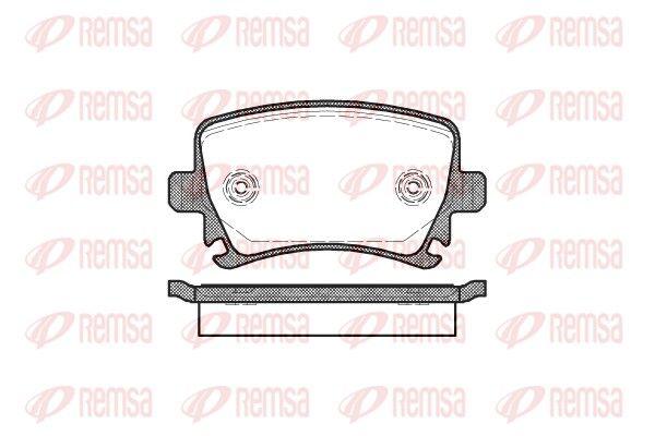 REMSA  1031.00 Bremsbelagsatz, Scheibenbremse Höhe: 56mm, Dicke/Stärke: 17mm