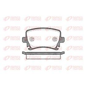 Bremsbelagsatz, Scheibenbremse Höhe: 56mm, Dicke/Stärke: 17mm mit OEM-Nummer 1K0698451