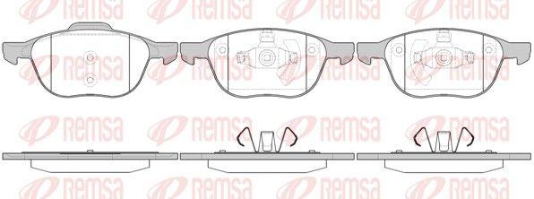 REMSA  1082.00 Bremsbelagsatz, Scheibenbremse Höhe 1: 62,5mm, Höhe 2: 67,2mm, Dicke/Stärke: 18mm