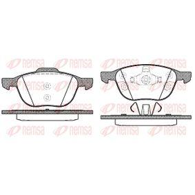 Bremsbelagsatz, Scheibenbremse Höhe 2: 62,2mm, Höhe: 67mm, Dicke/Stärke: 18mm mit OEM-Nummer 1695810