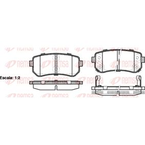 Brake Pad Set, disc brake Height: 41mm, Thickness: 15,2mm with OEM Number 583024WA10