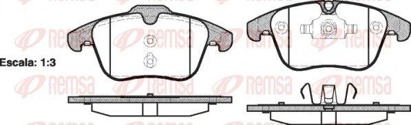 REMSA  1219.00 Bremsbelagsatz, Scheibenbremse Höhe 1: 72mm, Höhe 2: 66,7mm, Dicke/Stärke: 19mm