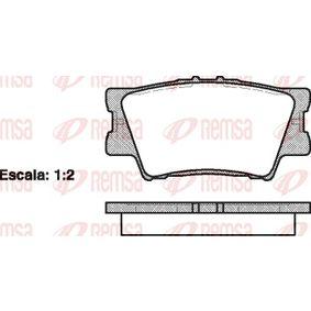 Bremsbelagsatz, Scheibenbremse Höhe: 49,3mm, Dicke/Stärke: 15,4mm mit OEM-Nummer 04466 06090