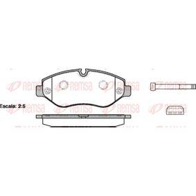 Bremsbelagsatz, Scheibenbremse Höhe: 67,1mm, Dicke/Stärke: 20,8mm mit OEM-Nummer 2E0 698 151