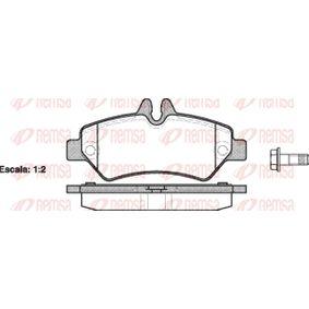 Bremsbelagsatz, Scheibenbremse Höhe: 63,1mm, Dicke/Stärke: 19,8mm mit OEM-Nummer 2E0 698 451