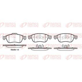 Bremsbelagsatz, Scheibenbremse Höhe 1: 64,7mm, Höhe 2: 59,4mm, Dicke/Stärke: 18mm mit OEM-Nummer 41060-5961R