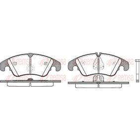 Bremsbelagsatz, Scheibenbremse Höhe 1: 73,1mm, Höhe 2: 73,6mm, Dicke/Stärke: 19mm mit OEM-Nummer 8K0 698 151 H