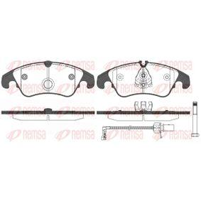 Bremsbelagsatz, Scheibenbremse Höhe 2: 73,6mm, Höhe: 73mm, Dicke/Stärke: 19mm mit OEM-Nummer 8R0698151A