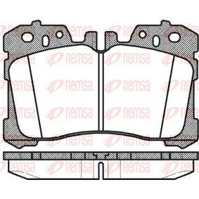 Bremsbelagsatz, Scheibenbremse Höhe: 87,9mm, Dicke/Stärke: 18,4mm mit OEM-Nummer 04465 0W110