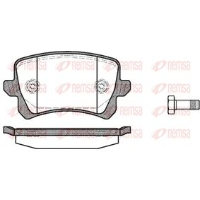 Bremsbelagsatz, Scheibenbremse Höhe: 56,4mm, Dicke/Stärke: 17mm mit OEM-Nummer 3C0 698 451 F