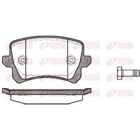 Bremsbelagsatz, Scheibenbremse Höhe: 56,4mm, Dicke/Stärke: 17mm mit OEM-Nummer 1K0 698 451L