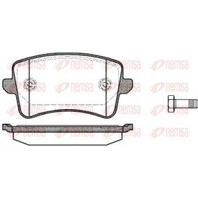 Bremsbelagsatz, Scheibenbremse Höhe: 58,8mm, Dicke/Stärke: 17,5mm mit OEM-Nummer 8K0698451D