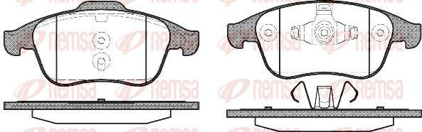 REMSA  1350.00 Bremsbelagsatz, Scheibenbremse Höhe 1: 68,5mm, Höhe 2: 63,2mm, Dicke/Stärke: 18mm