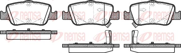 REMSA  1356.02 Bremsbelagsatz, Scheibenbremse Höhe: 45,6mm, Dicke/Stärke 1: 16,1mm, Dicke/Stärke 2: 16,5mm