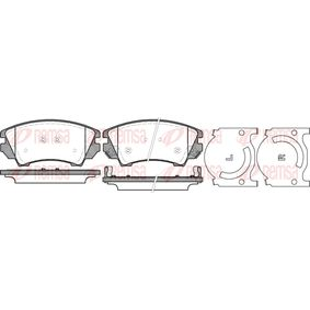 Brake Pad Set, disc brake Height: 66,7mm, Thickness: 18,8mm with OEM Number 1605434