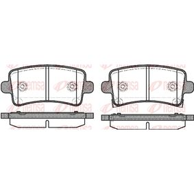Brake Pad Set, disc brake Height: 47,4mm, Thickness: 17,3mm with OEM Number 2284 6359